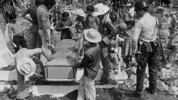 FILE PICTURE OF EXHUMATION OF MURDERED US NUNS IN EL SALVADOR
