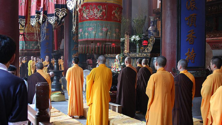Traditional buddhist ceremony