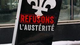 Anti-austerity movement Montreal Quebec 2016