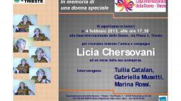 Licia Chersovani in un manifesto per una conferenza in suo onore