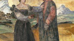 Casa_di_Francesco_Petrarca,_Laura_e_il_Poeta