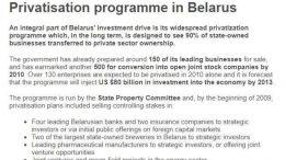 Privatizzazioni in Bielorussia